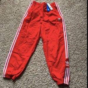 NEW Red Adidas Track Joggers
